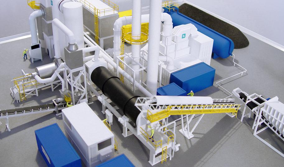 makieta instalacji przemysłowej