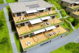 Makieta osiedla mieszkaniowego Les Clyettes, Szwajcaria, skala 1:100