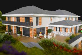 Makieta osiedla domów jednorodzinnych Sunlight, Szwajcaria, skala 1:100