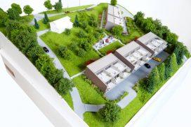 Makieta domów w zabudowie szeregowej w Lutry, Szwajcaria, skala 1:200
