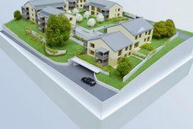 Makieta osiedla mieszkaniowego w Szwajcarii