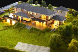 Makieta osiedla domów jednorodzinnych, Szwajcaria, skala 1:100