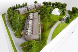 Makieta domów w zabudowie szeregowej w Lutry