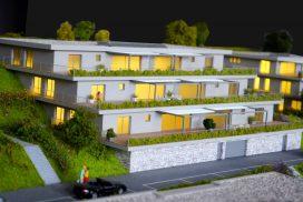 Makieta osiedla mieszkaniowego Les Clyettes, Szwajcaria