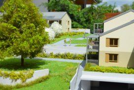 Makieta osiedla mieszkaniowego Russin Terase, skala 1:100