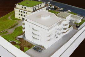 Makieta budynku wielorodzinnego, Szwajcaria, skala 1:100