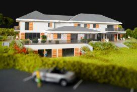 Makieta osiedla domów jednorodzinnych Szwajcaria