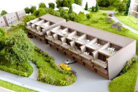 Makieta domów w zabudowie szeregowej, Szwajcaria, skala 1:200