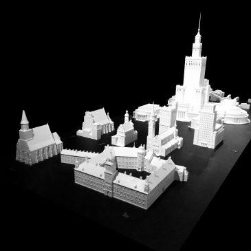 Makieta zabytków architektonicznych w Warszawie , skala 1:100