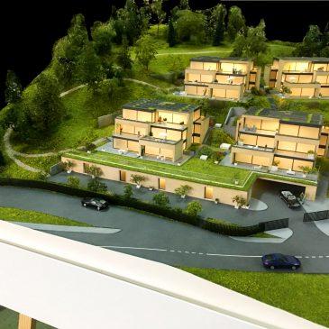 Makieta inwestycji mieszkaniowej w szwajcarskim Nyon skala 1:100