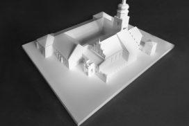 Makieta klasztoru, wydruk 3D