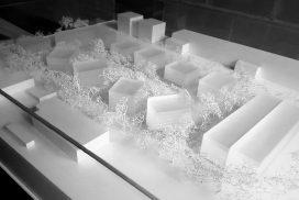 Makieta zabudowy mieszkaniowej w Warszawie, biuro MEGUSA GROUP, skala 1:500