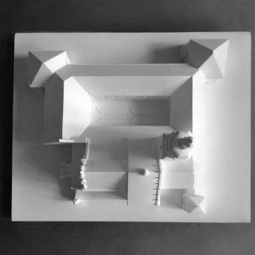 Makieta Klasztoru, wydruk 3D skala 1:100
