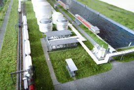 Model instalacji oczyszczania i osuszania LNG