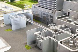 Model instalacji oczyszczania i osuszania LNG w skali 1:25