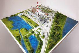 Model instalacji oczyszczania i osuszania LNG, LNG Silesia, skala 1:25