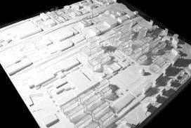 Makieta projektu przebudowy zachodnich peryferii Lozanny, skala 1:500