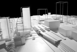 Makieta projektu przebudowy zachodnich peryferii Lozanny w skali 1:500